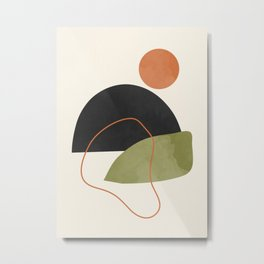 abstract minimal 64 Metal Print