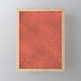 Pantone Living Coral, Liquid Hues, Abstract Fluid Art Design Framed Mini Art Print