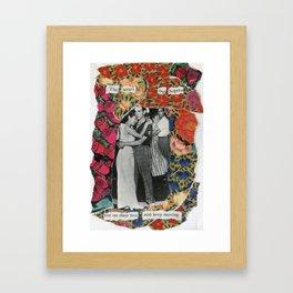 the weary but hopeful Framed Art Print