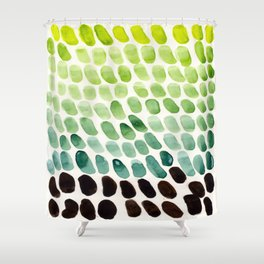 Green Teal Watercolor Abstract Organic Pattern MInimalist Abstract Colorful Pattern Natural Geometri Shower Curtain
