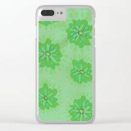 Fern Petal Rose Clear iPhone Case