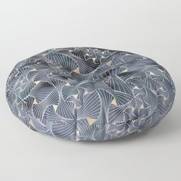 Reverie (in Grey and Gold) Floor Pillow