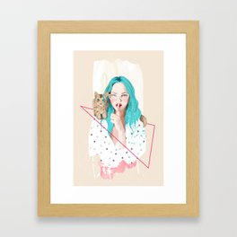 Shhh... Framed Art Print