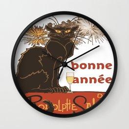 Bonne Annee Happy New Year Parody Wall Clock