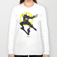 xmen Long Sleeve T-shirts featuring Xmen - Logan Alter Ego  by Bklounge