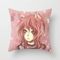 leon Throw Pillows featuring Leon by MilkNCreams