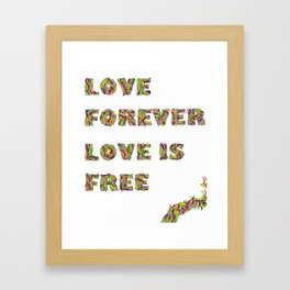 Love Forever Framed Art Print