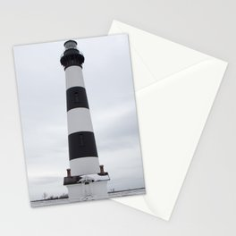 Outer Banks Lighthouse - Snowy Bodie Island Light Stationery Cards