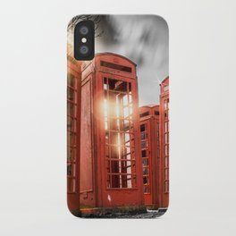 Red Phone Box - Art 2 iPhone Case