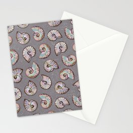Iridescent Ammonites - Fossil Pattern Stationery Cards