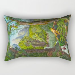 Historia naturalis palmarum - Carl Friedrich Philipp von Martius - c.1836-1850 Rectangular Pillow