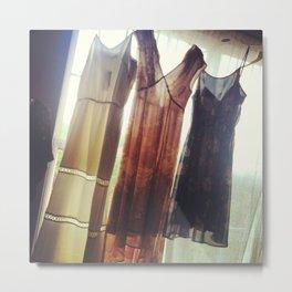 sheer dresses Metal Print