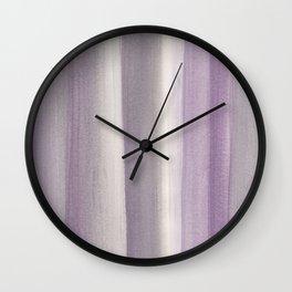Purple Gray Watercolor Dream #1 #painting #decor #art #society6 Wall Clock