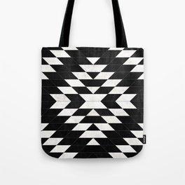 Urban Tribal Pattern No.14 - Aztec - Black Concrete Tote Bag