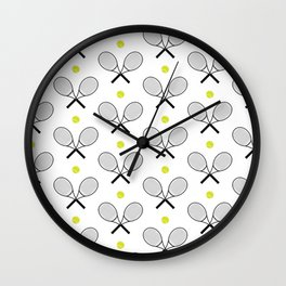 Tennis Pattern 2 Wall Clock