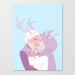 my love, you and i Canvas Print