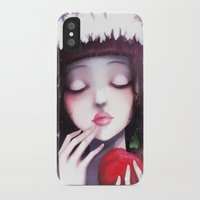 snow iPhone & iPod Cases featuring Snow white by Ludovic Jacqz