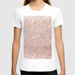 Sparkling Rose Gold Blush Glitter #2 #shiny #decor #art #society6 T-shirt
