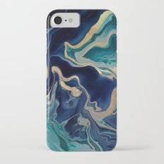 DRAMAQUEEN - GOLD INDIGO MARBLE iPhone 7 Slim Case