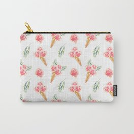 Floral Cones Pattern Carry-All Pouch