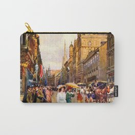Great vintage belle epoque scene Vienna Austria  Carry-All Pouch
