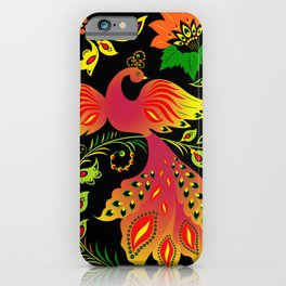 Fairy tale khokhloma bird iPhone Case
