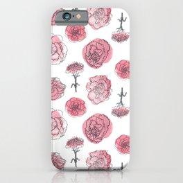Pink Carnation Pattern iPhone Case