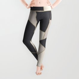 Neutral Gold Geometric Glam #1 #geo #decor #art #society6 Leggings