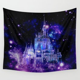Celestial Palace : Purple Blue Enchanted Castle Wall Tapestry