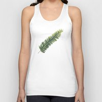 fern Tank Tops featuring Fern by Pioforsky