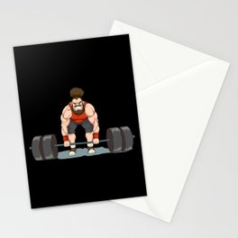 Weightlifting | Fitness Workout Stationery Cards