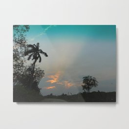 Sunset in the Pasture Metal Print