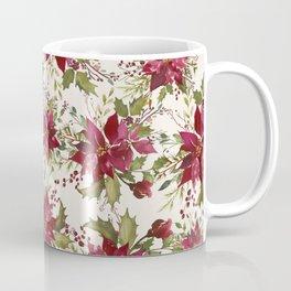 Poinsettia Pattern Coffee Mug