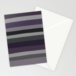 Purple Stripes Stationery Cards