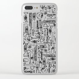 Horns B&W Clear iPhone Case