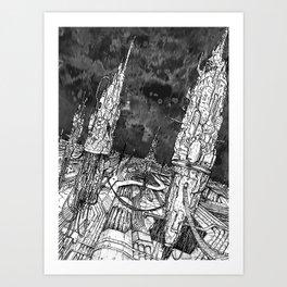 City of silence Art Print