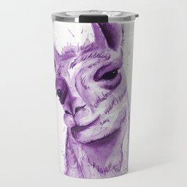 Llama in Purple Travel Mug