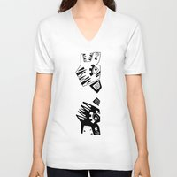 tigers V-neck T-shirts featuring Tigers by Berneri