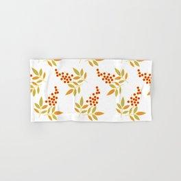 Natural Red White Berries Orange Leaves Flow Hand & Bath Towel