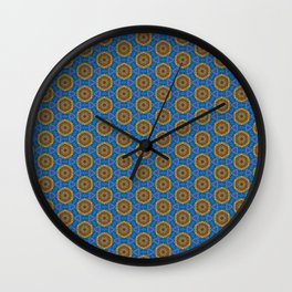 Embroidered Kaleidoscope - Rounders Wall Clock