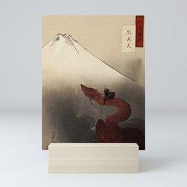 Roku on his Dragon Mini Art Print