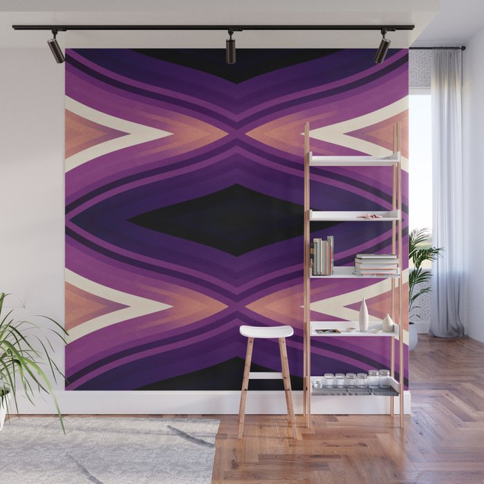 stripes wave pattern 6v2 ls Wall Mural