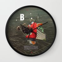 butterfly Wall Clocks featuring Butterfly by Frank Moth