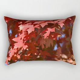 BRIGHT RED AUTUMN LEAVES IN THE SUNSHINE Rectangular Pillow