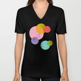 Rainbow Bubbles Unisex V-Neck