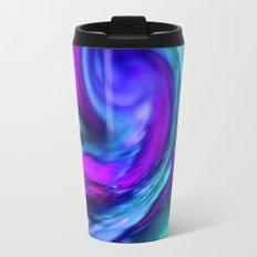 turquiose and purple abstract Metal Travel Mug