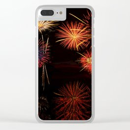 Fireworks Reflection In Water - OLena Art Clear iPhone Case