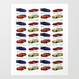 Sports cars Art Print
