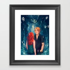 Midnight flower Framed Art Print