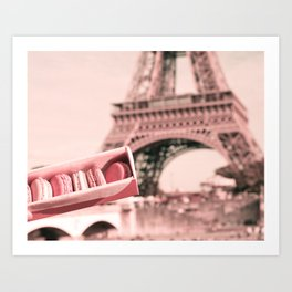 Paris in Blush Pink I Art Print